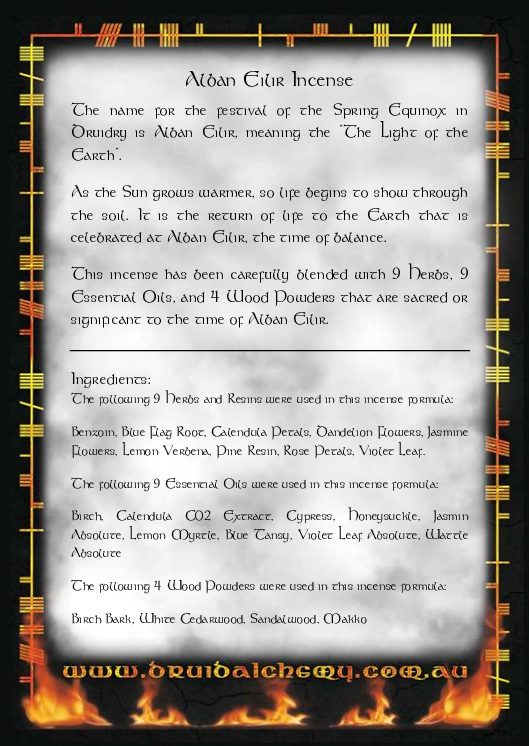 Alban Eilir Incense