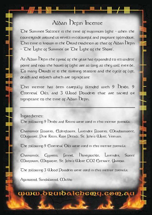 Alban Hefin Incense