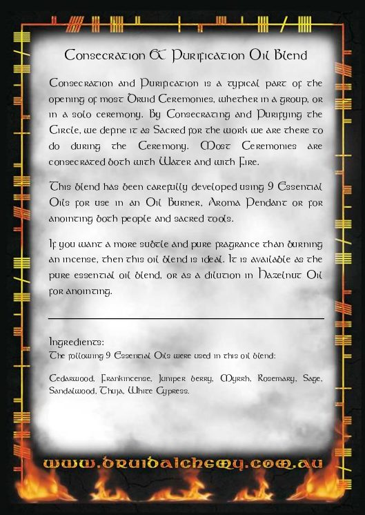 Consecration and Purification Oil Blend