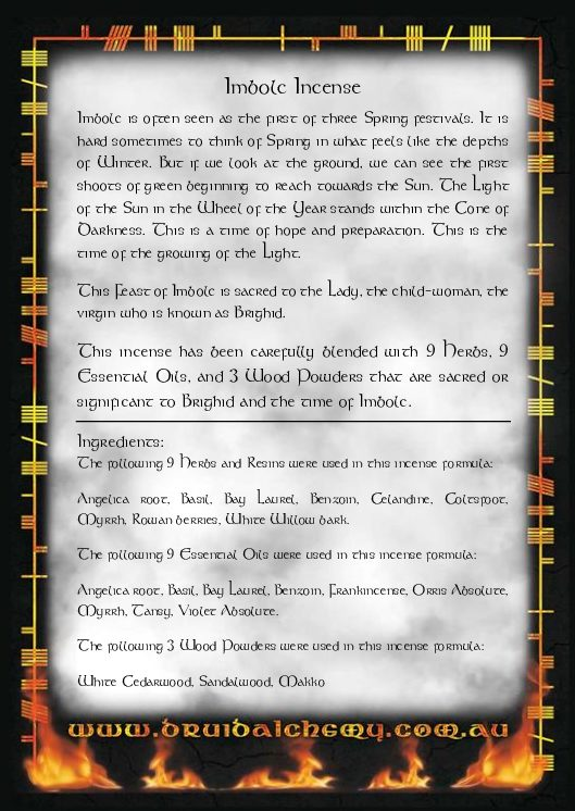 Imbolc Incense