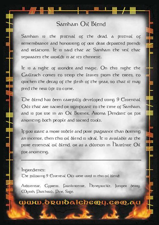 Samhain Oil Blend